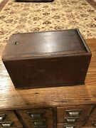Antique Wooden Hanging Dovetail Candle Box