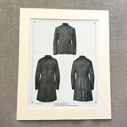 Military Print British Army Uniforms Cavalry Frock Coat Dragoon Guards Antique