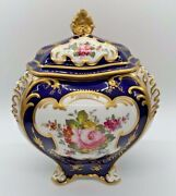 Rare And Exceptional Royal Crown Derby Box And Lid - 6 And 1/2 Inches High