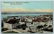 Postcard Puerto Rico San Juan View Lower End Of City And Harbor C1909 Ae15