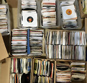 Lot Of 40 45 Rpm 50and039s-80and039s 7andrdquo Vinyl Records Jukebox Rock Pop Country Soul Vg