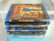 Pirates Of Caribbean,star Wars,click,harry Potter,night At Museum 7 Blu Ray Dvd