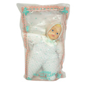 Vintage 1991 Avon Be My Baby Doll Toy New In Package W/ Bottle Teal Pajamas