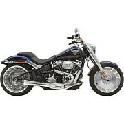 Bassani Chrome Road Rage Ii 21 Exhaust System For 18-20 Breakout And Fat Boy