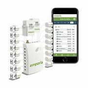 Emporia Smart Home Energy Monitor With 16 50a Circuit Level Sensors   Real Ti...