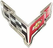 C8 Corvette Wall Hanging Garage Sign 18 X 19 Inches - Chrome