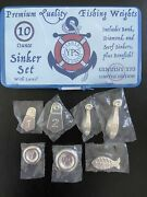 🐟yps 10oz Silver Sinker Set Yeager Poured Bar .999 41/100 Collectible Gift🐟