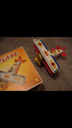 Vintage Tin Wind Up Greek Plane Boxed Made In Greece