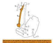 73220-35750-e0 Toyota Belt Assy Front Seat Outer Lh 7322035750e0 New Genuine