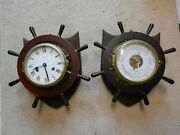 Schatz Ships Bells Clock And Barometer, Lovely Pair Of Items, Vintage, Christmas