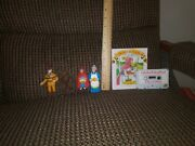 Vintage Hg Toys 1988 Story Book Little Red Riding Hood Wolf Figures Lot