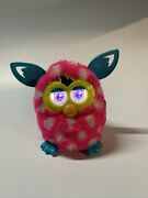 2012 Furby Boom Interactive Generation Pink White Dots Teal Hasbro Tested