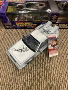 Back To The Future 1/15 Diecast Sign Michael J Fox Marty Mcfly Jsa Time Machine