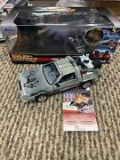 Back To The Future 1/24 Diecast Sign Michael J Fox Marty Mcfly Jsa Time Machine