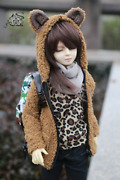 1/4 1/3 Uncle Id72/75 Bjd Outfit Clothes Bear Hoodies Furry Wool Coat Aod Soom