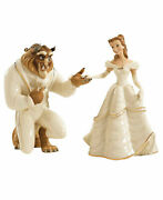 Lenox Disney Bell Andthe Beast 2 Figurines Beauty My Hand My Heart Is Yours