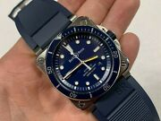 Bell And Ross Br0392 Diver Blue Dial Rubber Strap 42mm Automatic Watch
