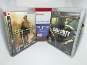 Call Of Duty Ps3 Lot Ghosts Black Ops Modern Warfare 2 - Free Ship