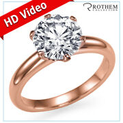 7350 1.00 Carat Solitaire Diamond Engagement Ring Rose Gold I2 00351115