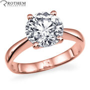 6350 1.17 Carat Solitaire Diamond Engagement Ring Rose Gold I1 02552278