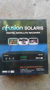 Nfusion Solaris Digital Satellite Receiver With Box And Remote Control And Cables