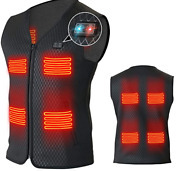 Heated Vest For Men Women With 8 Heating Panels - No Included Power Bank/battery