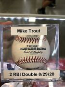 Mike Trout Game Used 2 Rbi Double Othani Walk 8/29/20 🔥🔥
