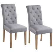 Smilemart Upholstered Dining Chair High Back Padded Parsons Chairs Tufted Dining