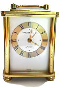Carriage Alarm Clock 8 Day 15j Swiss Mechanical For Parts Repair Vintage