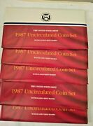 1987 5 -10 Coin Pandd United States Mint Uncirculated Set Ogp W/coa 5 In Box
