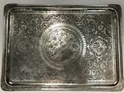 Magnificent Large Antique Solid Silver 84 Tray Islamic Qajar Persian C 1900