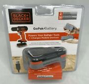 Black And Decker Bcb001k Gopak 12 V 1.5 Ah Lithium-ion Battery And Usb Charger