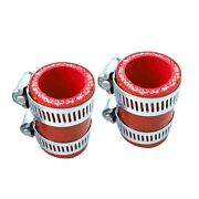 Red Fit Yamaha Banshee Exhaust Pipe Clamps Fit Factory Dg Fmf Toomey 1987-2006