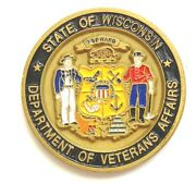 State Wisconsin Department Of Veterans Affairs Challenge Coin Military Funeral