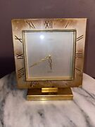 Luxor Alarm Clock 8 Day Movement, Swiss Made, Gold Plated Rare