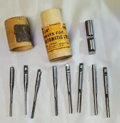 Vintage North Bros. Yankee Push Drill Point Bit Set And Adapter Stanley