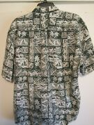 Reyn Spooner Xxl/xl Sort Sleeve Shirt Traditional Green