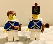 Vintage Lego Minifigure Lot Of 2 Imperial Soldiers/guards -admiral Officer