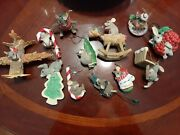 Charming Tails Lot Of Mice Dean Griff/ A Dozen Christmas Ornaments Some Rare