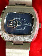 Andre Rivalle Jump Hour Digital Vintage 70and039s 17 Jewel Watch Runs Hand Winding