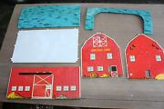Vintage Tin Metal Toy Sunnyfield Farms Barn By Ohio Art