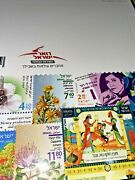 Israeli Stamp Albums With Stamps Year 2020 New Book W/explanation On The Stems