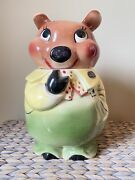 Deforest Of California Brown Bear 12 Inch Mid-century Covered/cookie Jar