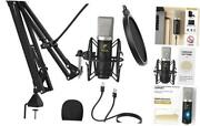 Condenser Microphone 192khz/24bit Usb Cardioid Computer Mic Kit With