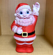 Vintage Santa Claus Christmas Squeaky Toy Sanitoy Inc Made In Usa 8 Tall Rubber