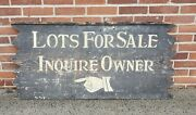 Large Antique Wood Sign Lots For Sale Inquire Owner