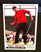 Tiger Woods 2001 S.i. For Kids Masters Perforated Card Extremely Rare Center