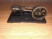 Vintage Live Steam Engine Metal And Brass Flywheel 1950and039s Weighs 10lbs Rare