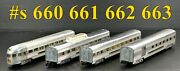 American Flyer Pw 660 661 662 663 Extruded Aluminum Pass.set Knuckle 1950-52