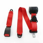 1x For Dxxge Cars 3 Point Harness Safety Belt Adjustable Seat Belt Kit Red